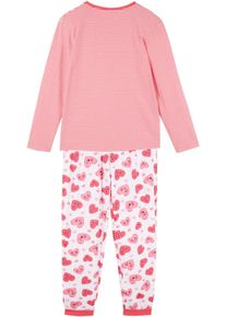 bonprix Meisjes, Pyjama (2-dlg. set) van biologisch katoen, wit, Kinderen