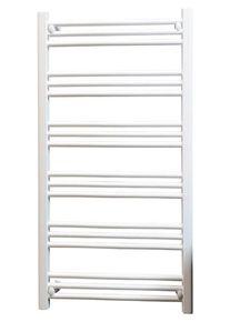 KRISS skandi heated towel rail 1140 x 600 white flat