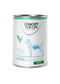 Concept for Life Veterinary Diet Hypoallergenic, cheval.- maxi lot % : 48 x 400 g