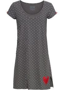 bonprix chemise de nuit d'allaitement coton bio pour femme en gris avec manches courtes