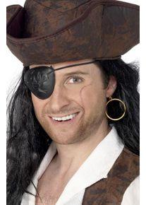 Smiffys Cache-oeil de pirate Captain Oneeye avec boucle d'oreille