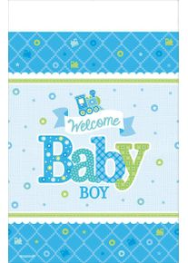 Amscan Nappe Welcome Baby Boy 2,59 x 1,38m