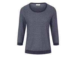 Rundhals-Pullover aus 100% SUPIMA®-Baumwolle Peter Hahn blau