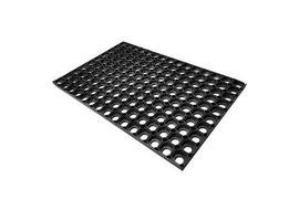 Golze Quadro Light Türmatte, 40 x 60 cm, Fußmatte für jede Witterung geeignet, Farbe: schwarz