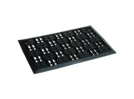 Golze DYNAMIC Türmatte, 40 x 60 cm, Fußmatte aus Gummi, für den Außenbereich, schwarz, mit Rillen