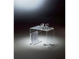 Places of Style Couchtisch, mit Zeitungsfach aus Acrylglas weiß Beistelltische Tische Couchtisch