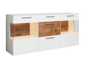 Sideboard 1004 in seidenmatt weiß