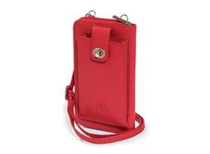 Walbusch Damen Handy-Tasche Rot einfarbig