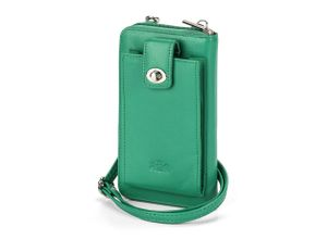 Walbusch Damen Handy-Tasche Gruen einfarbig