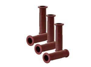 BigDean Schubkarre »6x Schubkarren Universal Griffe − 14 cm Länge − 30 mm Innendurchmesser − Rundrohre«