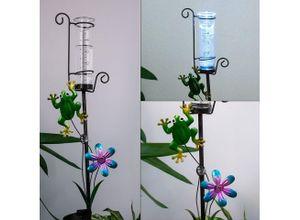 EGLO Dekolicht, LED Außen Steck Leuchte Solar Garten Beet Stecker Mini-Vase Erdspieß Deko Lampe Eglo 48709
