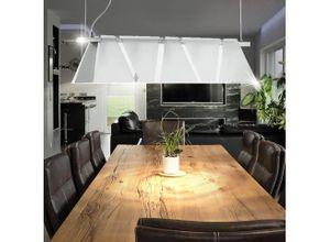 EGLO Hängeleuchte, Design Decken Beleuchtung Hänge Leuchte Pendel Lampe silber Glas satiniert Eglo XIMENA 89763