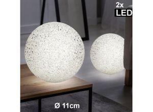 etc-shop Kugelleuchte, 2x LED Tisch Lampen Ess Zimmer Deko Kugel Beistell Leuchten Flur Lese Strahler