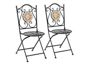 COSTWAY Klappstuhl »2er Set Mosaik-Stühle