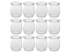 Weck Einmachglas »12er Pack Tulpen Gläser Vorspeisen Dessert Glas mit Deckel 220ml Höhe 8