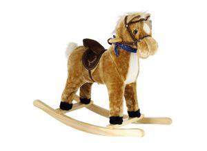 BIECO Schaukelpferd »Bieco Plüsch Schaukelpferd 73x28x65cm Schaukeltiere Pferd zum Draufsitzen und Reiten Schaukelpferd Baby Baby Spielzeug ab 9 Monate Baby Schaukel Pferde Spielzeug Pferd Spielzeug Mädchen«