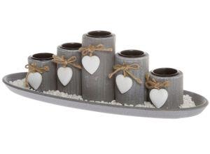 elbmöbel Kerzentablett »5 Teelichthalter mit
