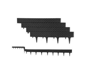 BigDean Rasenkante »3,2 m mit 4 Elemente á 81 cm − Biegbarer Kunststoff in Rattan−Design − Beeteinfassung