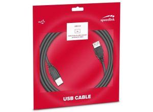 Speedlink »Speedlink 3m USB 2.0 Verlängerungs-Kabel USB-A Stecker zu USB-A Buchse HighSpeed Verlängerung A-Stecker auf A-Buchse USB-Kabel