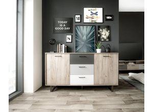 Newroom Sideboard, Sideboard Eiche Grau