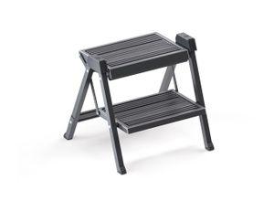 Hailo Klapptritt »Step Fix 4410-10 Leiter Trittleiter 2 stufig Klapptritt Küchenleiter dunkelgrau