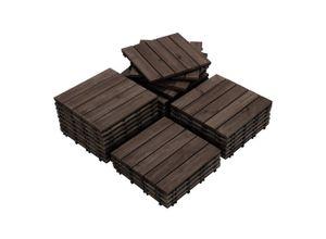Yaheetech Holzfliesen, 27 Stück 30x30