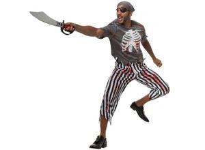 tectake Kostüm »Herrenkostüm Gruseliger Pirat«,