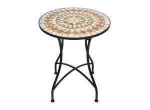 COSTWAY Gartentisch »Runder Mosaiktisch Retro