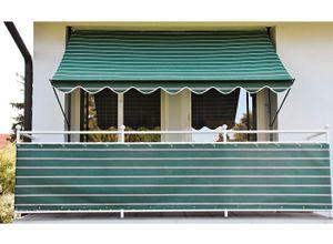 Angerer Freizeitmöbel Klemmmarkise 150 cm Ausfall, versch. Breiten, grün