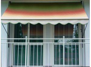Angerer Freizeitmöbel Klemmmarkise grün/rot/gelb, Ausfall: 150 cm, versch. Breiten, grün