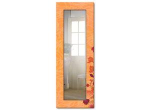 Artland Wandspiegel »Blumen orange«, gerahmter
