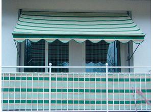 Angerer Freizeitmöbel Klemmmarkise grün-beige, Ausfall: 150 cm, versch. Breiten, grün