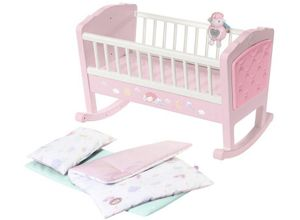 Baby Annabell Puppenwiege »Sweet Dreams«, mit Schlaflied und Schaukel-Automatik, rosa