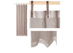 Vorhang »Schlaufenschals mit Lederschlaufen -
