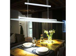 EGLO Hängeleuchte, LED 18 W Hänge Leuchte Esszimmer Decken Strahler Alu höhen verstellbar Eglo 90816