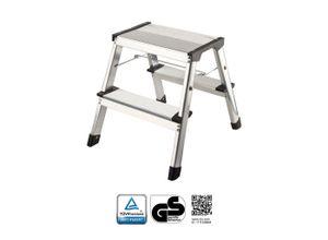 flexilife Trittleiter »flexilife Aluminium Tritt / Leiter Trittleiter Klapptritt 2 x 2 Stufen bis 150 kg belastbar
