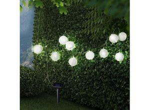 Globo LED Dekolicht, Solarleuchte Lampions Außen Solarlampe Erdspieß Solar Garten Deko Außen